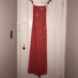 Stunning BCBG coral dress with sequins